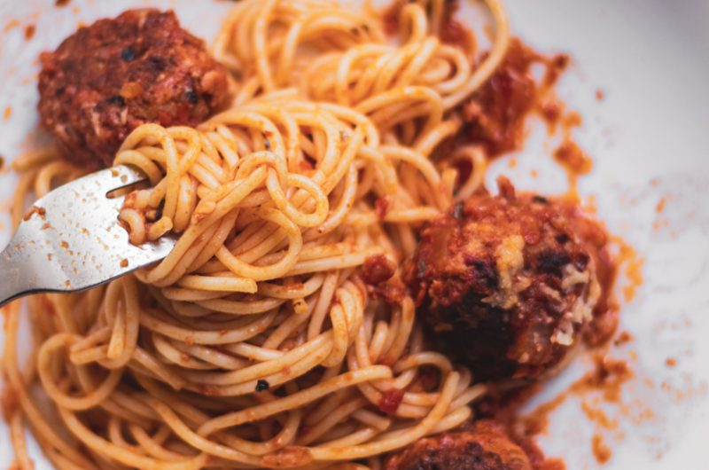 All'Amatriciana Meatball Pasta