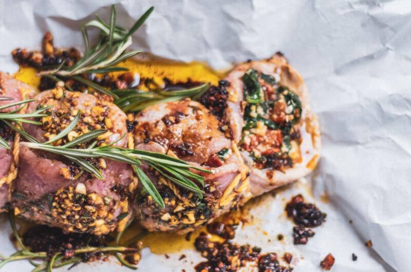 Pork Tenderloin Stuffed with Spinach