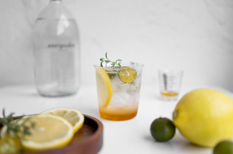 Limequats Sparkling Water with Honey